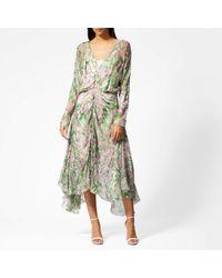 Preen By Thornton Bregazzi Marlie Dress With Pink Slip - Green