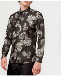 Versace - Patterned Long Sleeve Shirt - Lyst