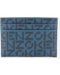 KENZO Monogram Card Holder - Blue