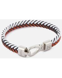 Tod's - Men's Leather Pleated Bracelet - Lyst