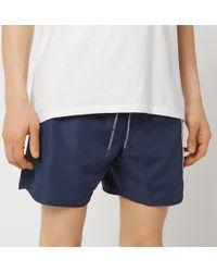 Emporio Armani Taped Swim Shorts - Blue