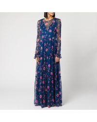 Philosophy Di Lorenzo Serafini Floral Print Maxi Dress - Blue
