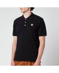 Maison Kitsuné Fox Head Patch Classic Polo Shirt - Black