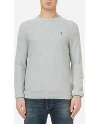 Polo Ralph Lauren - Men's Texturized Cotton Crew Knitted Jumper - Lyst