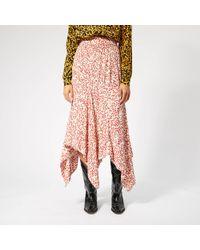 Ganni Goldstone Crepe Skirt - White