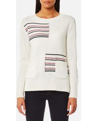 Barbour - Seaton Knitted Jumper - Lyst