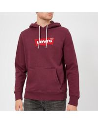 Levi's - Embroidered-logo Stretch-cotton Hoody - Lyst