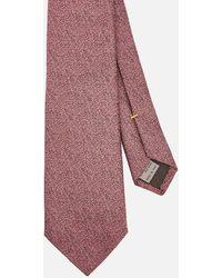 Canali Fuzz Pattern Silk Tie - Multicolor