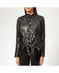HUGO - Women's Lonette Leather Jacket - Lyst