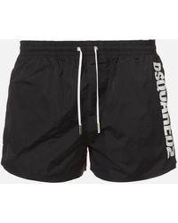 DSquared² Vertical Logo Swim Shorts - Black