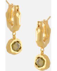 Joanna Laura Constantine Mini Gold Plated Waves Hoops - Metallic