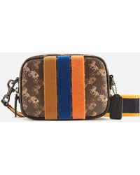 COACH Coated Canvas Small Camera Bag - Brown