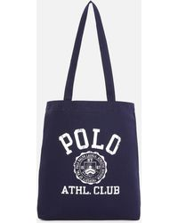 Polo Ralph Lauren Cotton Twill Canvas Tote Bag - Blue