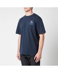 Edwin Sunset On Mt Fuji T-shirt - Blue
