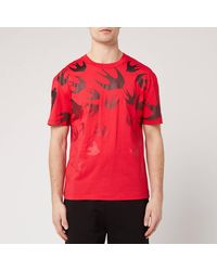 McQ Faded Swallow T Shirt - Red