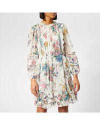 Zimmermann Ninety-six Linear Mini Dress - White