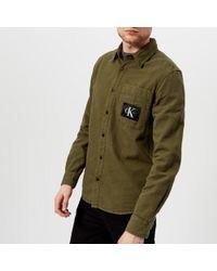 Calvin Klein - Men's Wesp Regular Fit Patch Logo Long Sleeve Shirt - Lyst