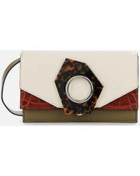 Ganni Colour Block Shoulder Bag - Multicolour