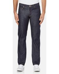 A.P.C. New Standard Mid Rise Jeans - Blue