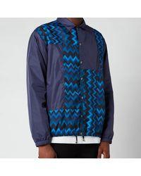 Missoni Patchwork Anorak Jacket - Purple