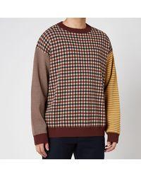 YMC Rayon Nylon Knit Gordon Crewneck Sweater - Multicolor