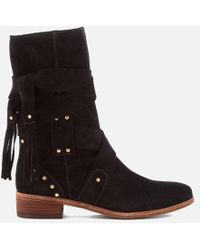 See By Chloé - Women's Leather Mid Calf Heeled Boots - Lyst