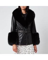 Saks Potts Shorty Coat - Black