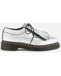 Dr. Martens | Women's 3989 Metallic Leather Brogues | Lyst