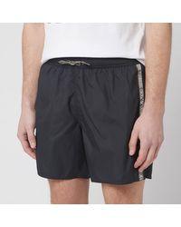 Emporio Armani Logo Tape Boxer Swim Short - Black