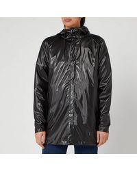 Rains Short Coat - Black