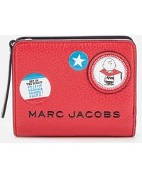 Marc Jacobs The Box Peanuts Americana Mini Compact Wallet - Red