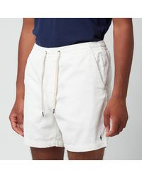 Polo Ralph Lauren Corduroy Prepster Shorts - White