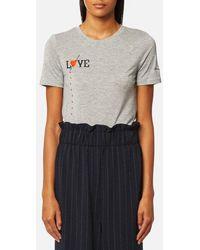 Ganni - Women's Linfield Lyocell Tshirt - Lyst