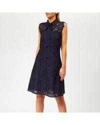MICHAEL Michael Kors Lace F+f Dress - Blue