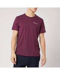 Champion Back Script Crew Neck T-shirt - Purple