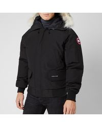 Canada Goose Chilliwack Fur Trimmed Down Bomber Jacket - Black
