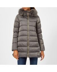 Herno - Women's Down Padded Coat With Fur Collar - Lyst