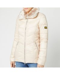 Barbour Nurburg Quilt Jacket - Natural