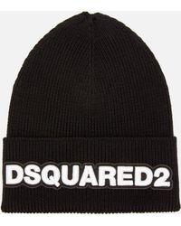 DSquared² Dsquared Knit Hat - Black