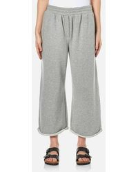 T By Alexander Wang - Women's Soft French Terry Cropped Leg Joggers - Lyst