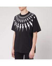 Neil Barrett Fairisle Thunderbolt T-shirt - Black