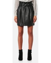 MICHAEL Michael Kors - Women's Belted Pleated Leather Skirt - Lyst