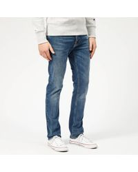 Nudie Jeans Grim Tim Slim Jeans - Blue