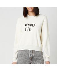 Bella Freud Honey Pie Jumper Merino Wool - White