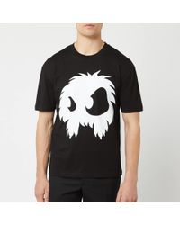 McQ Screenprinted Monster Dropped Shoulder T-shirt - Black