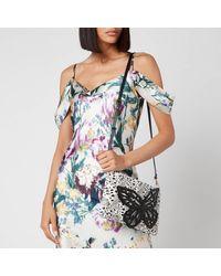 Sophia Webster Flossy Crystal Clutch Bag - Black