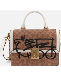 COACH Signature Horse And Carriage 3 By Guang Yu Hutton Top Handle Bag - Multicolour