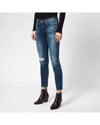 FRAME Le Garcon Jeans - Blue