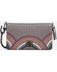 COACH Dinky Bag With Colorblock Deco Quilting And Rivets - Multicolor