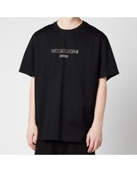 Wooyoungmi Center Logo T-shirt - Black